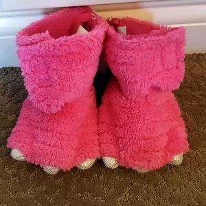 Toddler Girls Dinosaur Reptile Feet Slippers NWT